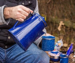 The Stansport enamel coffee percolator set makes the perfect pot of camp coffee