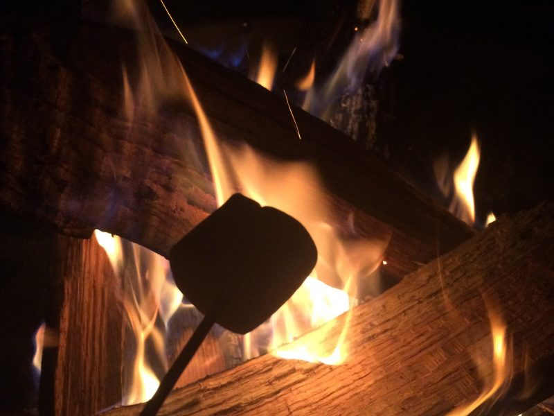 Roasting marshmallows is easier with roasting forks from Amazon Prime