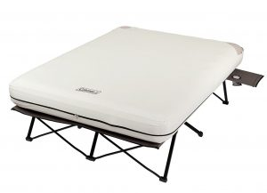 "The Coleman air mattress cot doesn't move or shift or deflate and is raised 22"" off the ground"