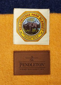 With each sale of these brightly colored wool blankets, Pendleton donates money to the National Park Foundation