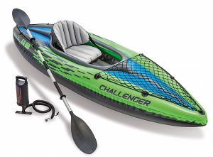 Intex's inflatable kayak is great for the casual kayaker because it is easy to use.