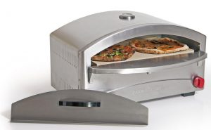 The Camp Chef pizza oven makes delicious pizza!