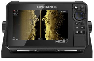 The Lowrance HDS-7 is a complete unit with 3-in-1 fish finder and GPS and includes Navionics charts.