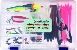 Tailored Tackle 118-piece freshwater fishing kit includes lures, weights and more