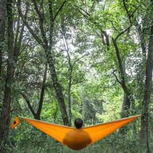 Hammock's are better for the environment, reduce your footprint and help you sleep better.