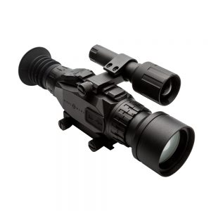 The Sightmark Wraith digital night vision scope can be used for deer hunting during the day, as well as predator hunting at night.