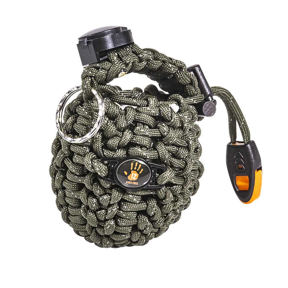 46' of paracord and plenty of survival supplies packed inside