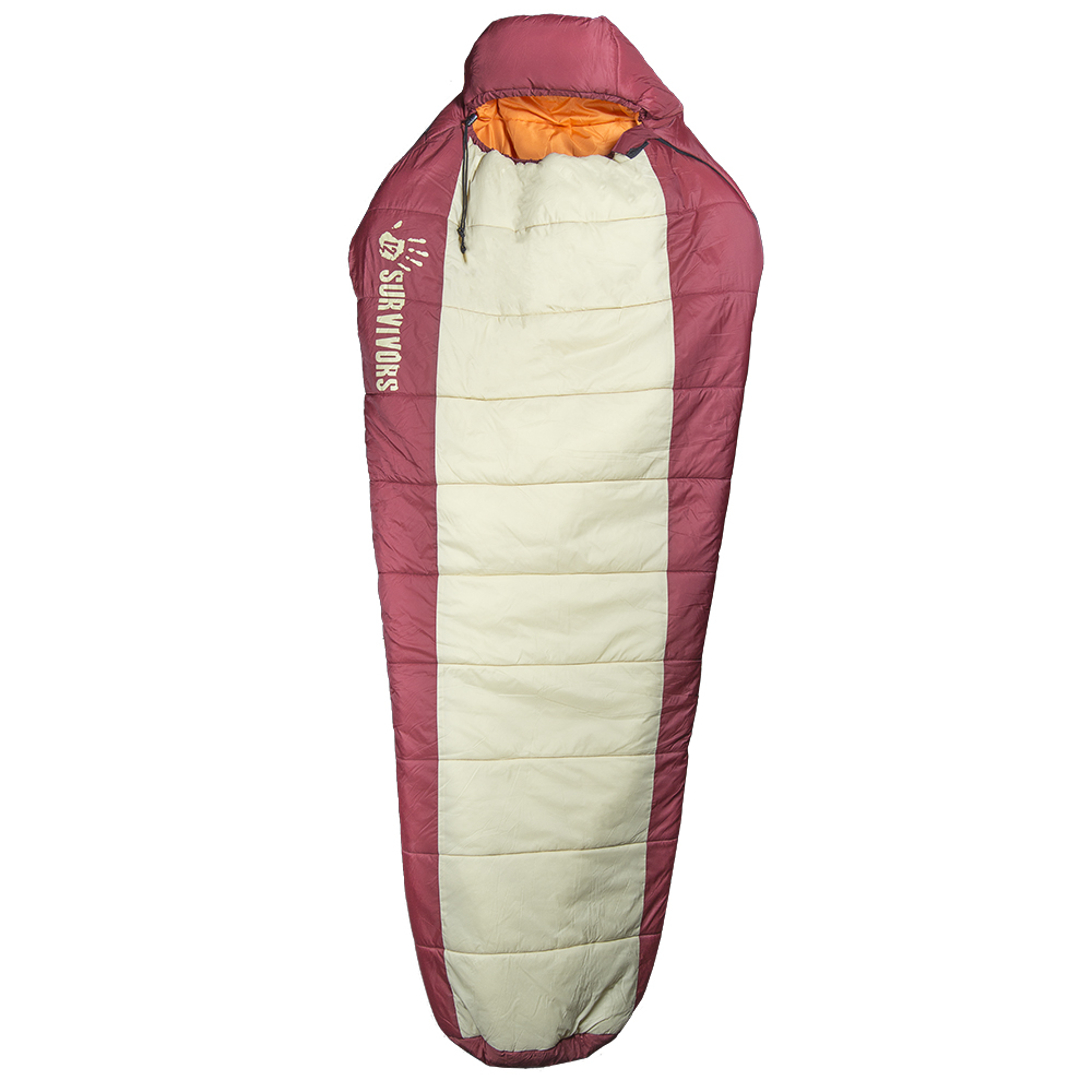 Primed for all weather over 20 degrees Fahrenheit, this sleeping bag's polyester filled, mummy hybrid shaped construction provides protection from the outside-in while only weighing 4 lbs.